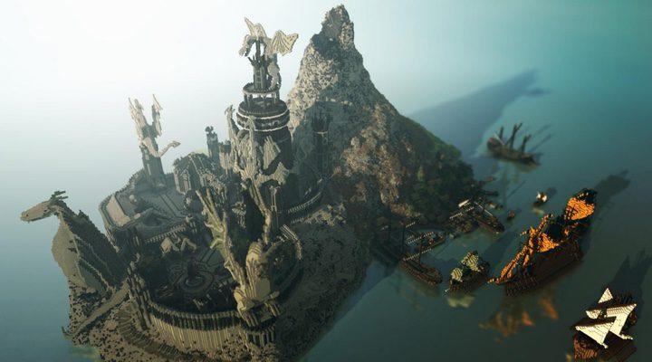 Recreación de Rocadragón en Minecraft