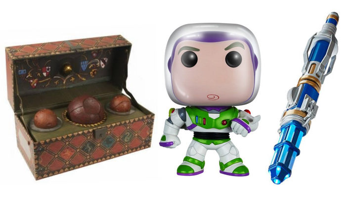 Funko Buzz Lightyear, baúl Quidditch, destornillador sónico