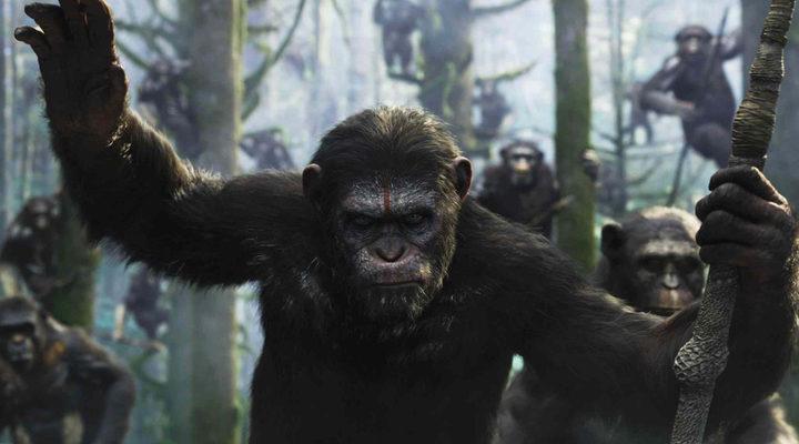 'La guerra del planeta de los simios' lidera la taquilla española en una competencia reñida