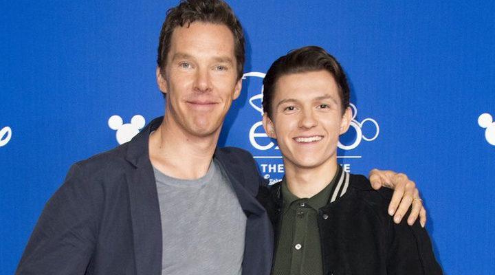 Benedict Cumberbatch y Tom Holland