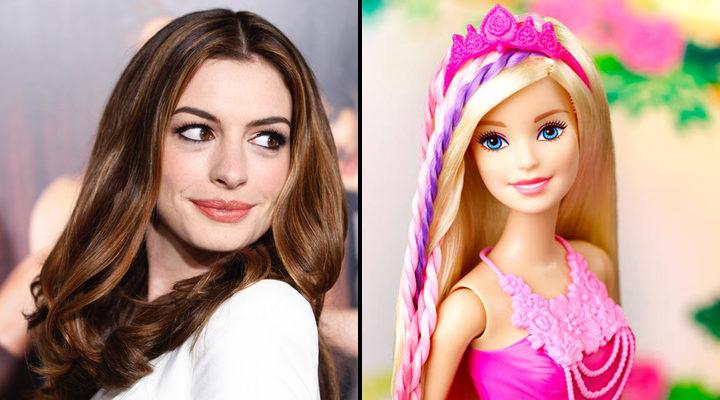 Anne Hathaway y Barbie