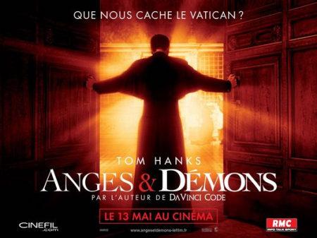 Cartel francés de 'Ángeles y demonios'