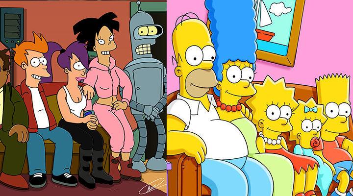 Futurama y Los Simpson