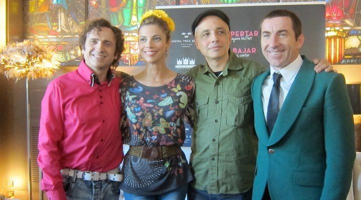 Maribel Verdú, Antonio de la Torre y José Mota con Pablo Berger en 'Abracadabra'