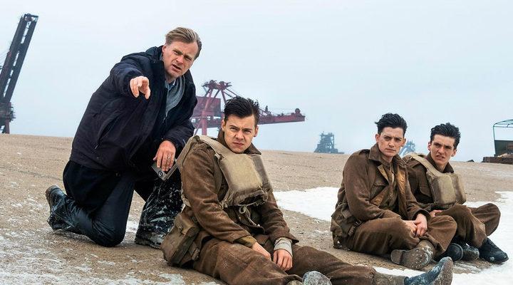 Christopher Nolan en el set de rodaje de 'Dunkerque'