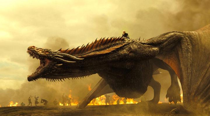 Daenerys luchando con un dragón