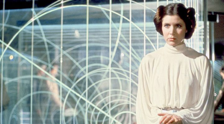 Carrie Fisher como Leia Organa en 'Star Wars'