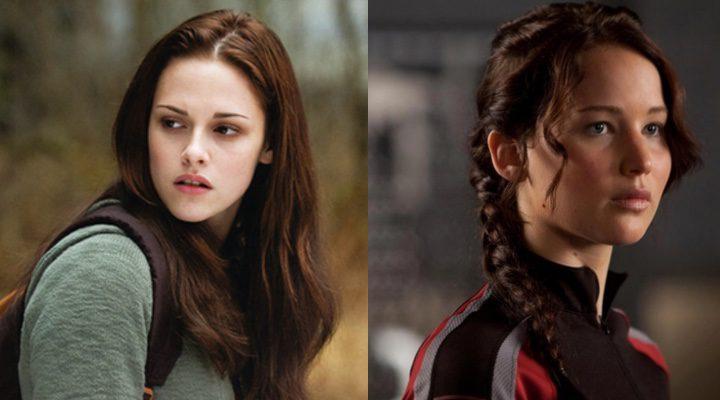 Kristen Stewart en 'Crepúsculo' y Jennifer Lawrence en 'Los Juegos del Hambre'