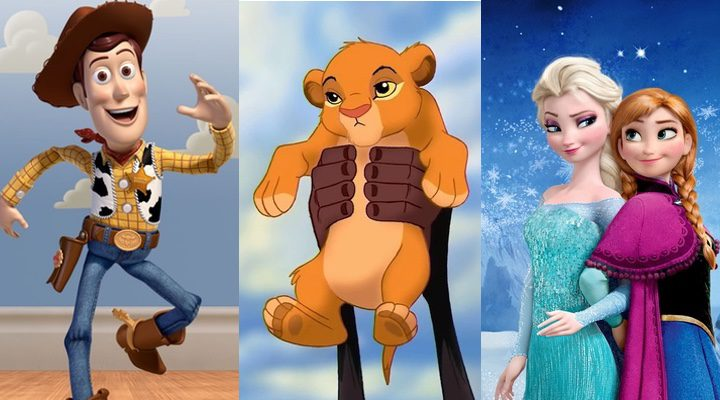 'Toy Story', 'El Rey León' y 'Frozen'