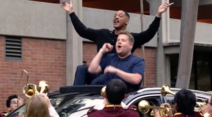 Jmes Corden y Will Smith