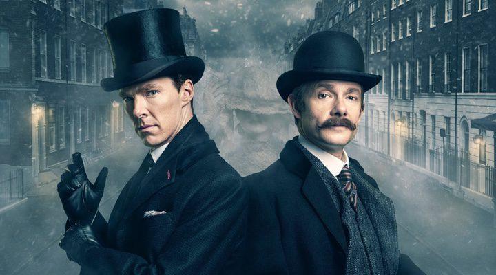 Bennedict Cumberbatch y Martin Freeman en Sherlock