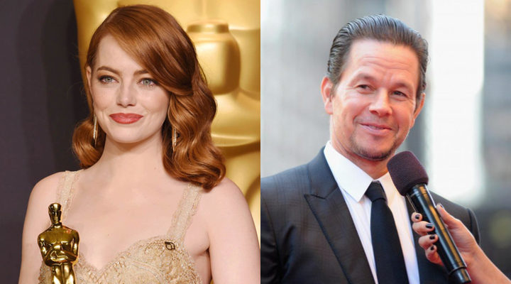Emma Stone y Mark Wahlberg