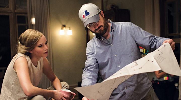 Jennifer Lawrence y Darren Aronofsky en el set de 'Madre!'