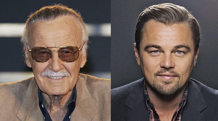 Stan Lee y Leonardo DiCaprio