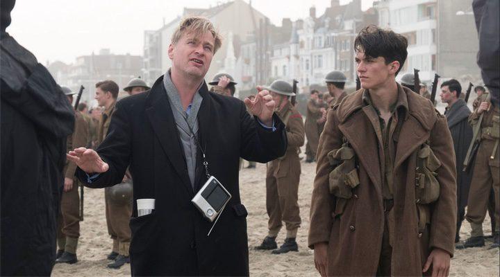 Christopher Nolan durante el rodaje de 'Dunkerque'