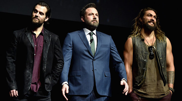 Ben Affleck, Jason Momoa y Henry Cavill