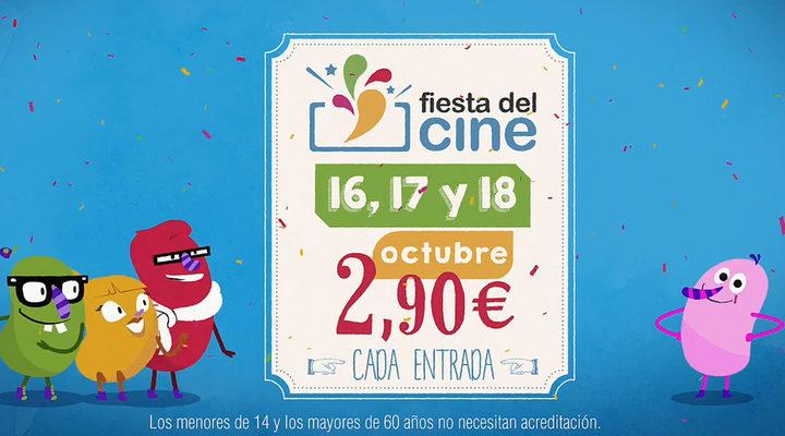 Imagen promocional de la Fiesta del Cine de octubre