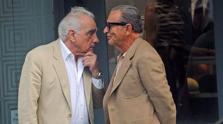 Robert De Niro y Martin Scorsese en el rodaje de 'The Irishman'