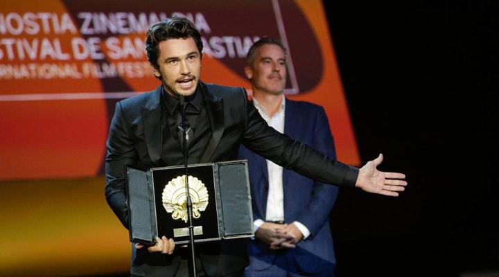 James Franco recogiendo la Concha de Oro