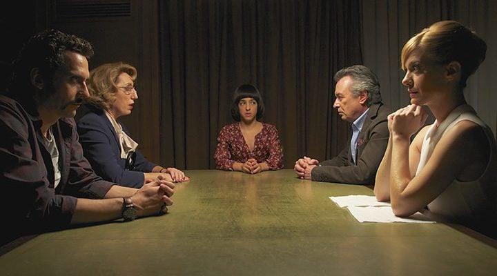 Rossy de Palma, Nuria Herrera, Alexandra Jiménez, Paco León y Óscar Martínez en 'Toc Toc'