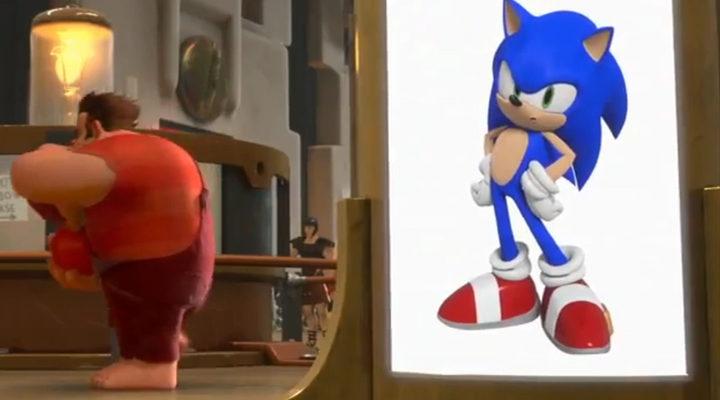 Sonic en '¡Rompe Ralph!'