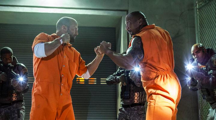 Dwayne Johson y Jason Statham en 'Fast and Furious'