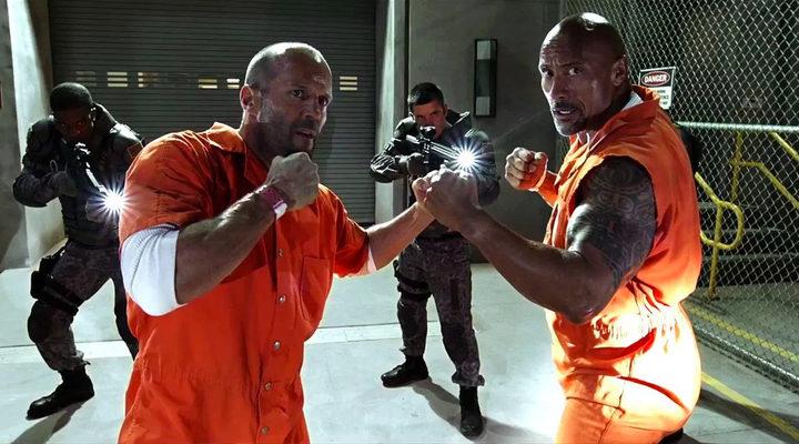 Dwayne Johnson y Jason Statham