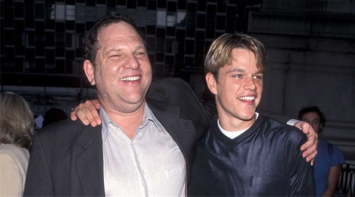 Harvey Weinstein y Matt Damon