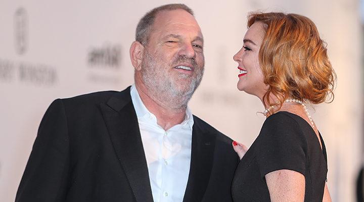 Lindsay Lohan y Harvey Weinstein