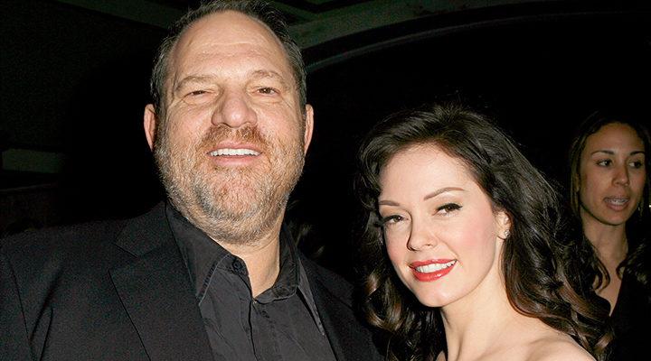 Rose McGowan con el productor Harvey Weinstein