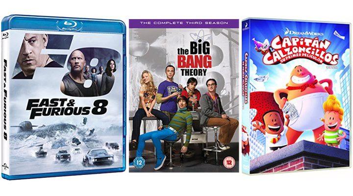 'Fast & Furious 8', 'The Big Bang Theory' y 'Capitán Calzoncillos: su primer peliculón