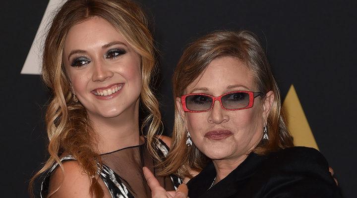 Carrie Fisher con su hija, Billie Lourd