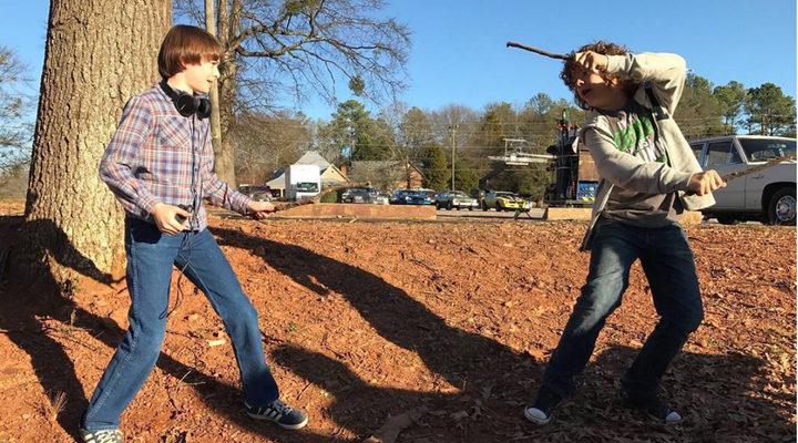 .Dustin y Will en un duelo de varitas