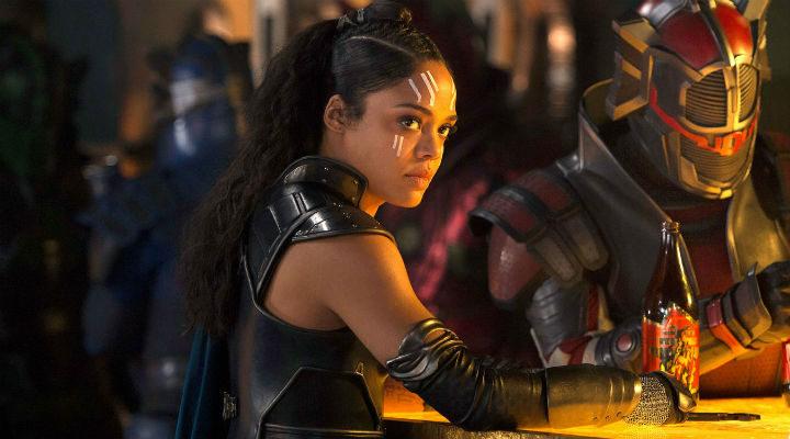 Tessa Thompson como Valquiria en 'Thor: Ragnarok'