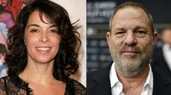 Annabella Sciorra y Harvey Weinstein