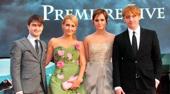 J.K. Rowling, Emma Watson, Daniel Radcliffe, Rupert Grint