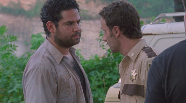 Morales en la primera temporada de 'The Walking Dead'