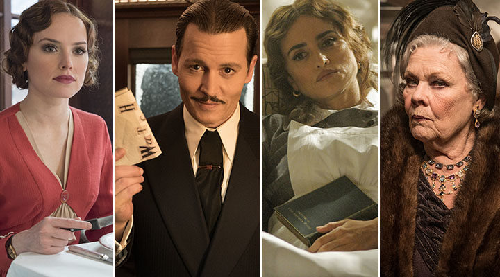 Daisy Ridley, Johnny Depp, Penélope Cruz y Judi Dench en 'Asesinato en el Orient Express'