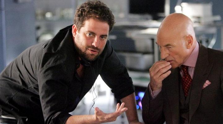 Brett Ratner y Patrick Stewart en el set de 'X-Men 3: La decisión final'