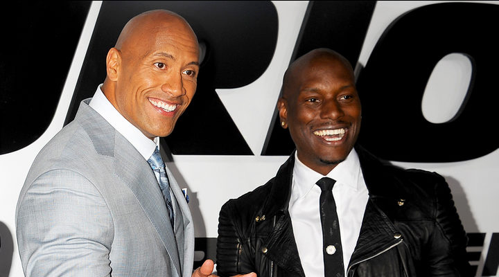 'Dwayne Johnson and Tyrese Gibson'
