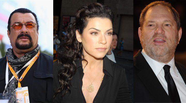 La protagonista de 'The Good Wife' ha hablado sobre sus encuentros con Harvey Weinstein y Steven Seagal'