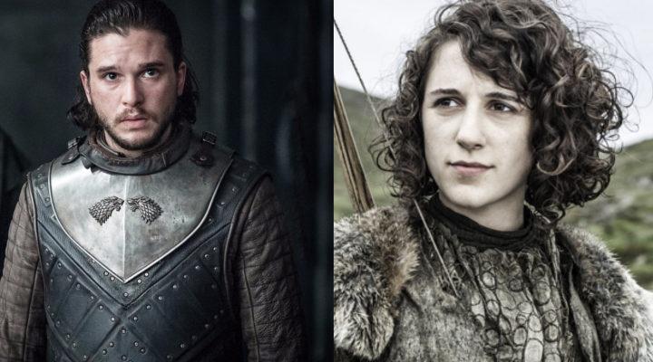 Jon Snow y Meera Reed