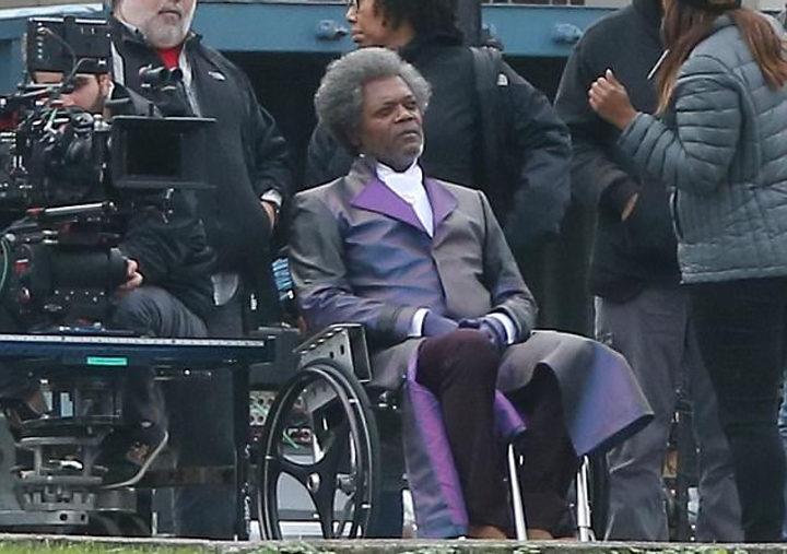 Samuel L. Jackson en el rodaje de 'Glass'