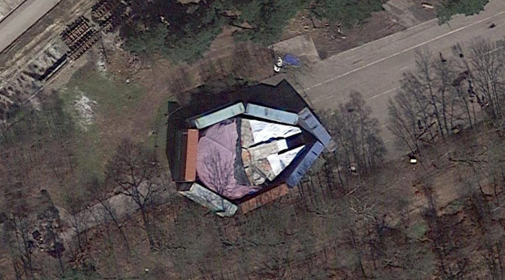 Halcón Milenario vía Google Maps