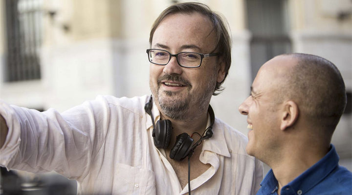 Manuel Martín Cuenca y Javier Gutiérrez rodando 'El Autor'
