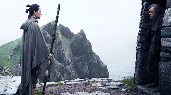 Rey y Luke Skywalker