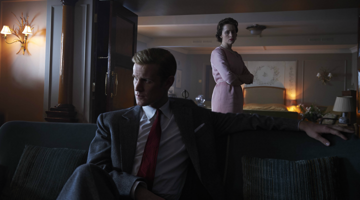 Matt Smith y Claire Foy en la segunda temporada de 'The Crown'