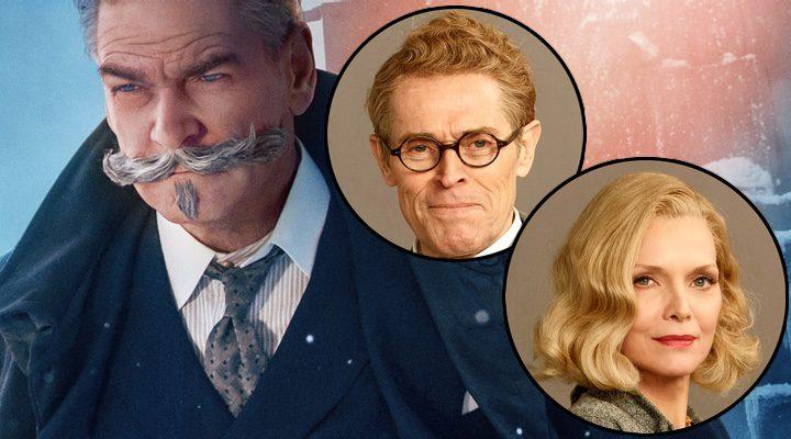Kenneth Branagh, Michelle Pfeiffer y Willem Dafoe en 'Asesinato en el Orient Express'