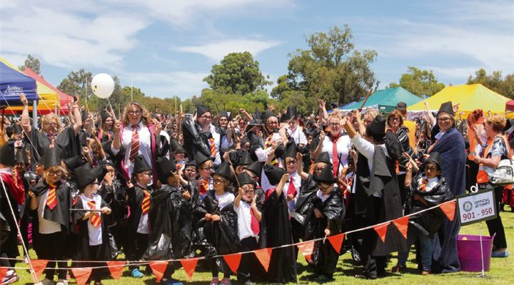 Estudiantes Colegio Byford, Este de Australia