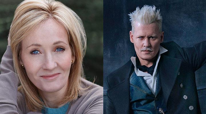 J.K. Rowling y Johnny Depp